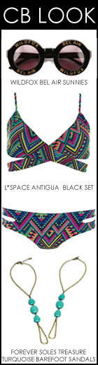 Cacique Boutique  Looks Shops Designer Swimwear Wildfox Bel Air Sunglass L Space Antigua Black Forever Soles