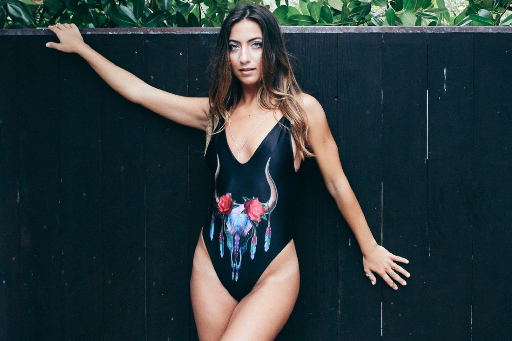 SOLKISSED SWIMWEAR CALIFORNIA ONE PIECE IN BLACK