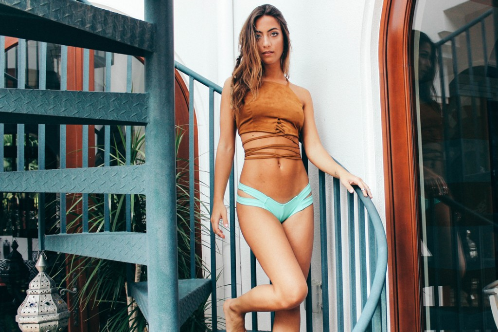 THE TRIBE SUEDE TOP AND MONTCE SWIM EURO BOTTOM IN MINT