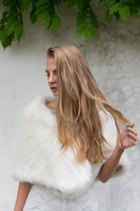 Unreal Fur Yasmin Shrug in Ivory